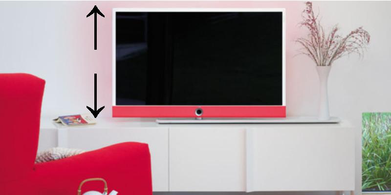 in welcher h he sollte der tv bildschirm platziert sein. Black Bedroom Furniture Sets. Home Design Ideas